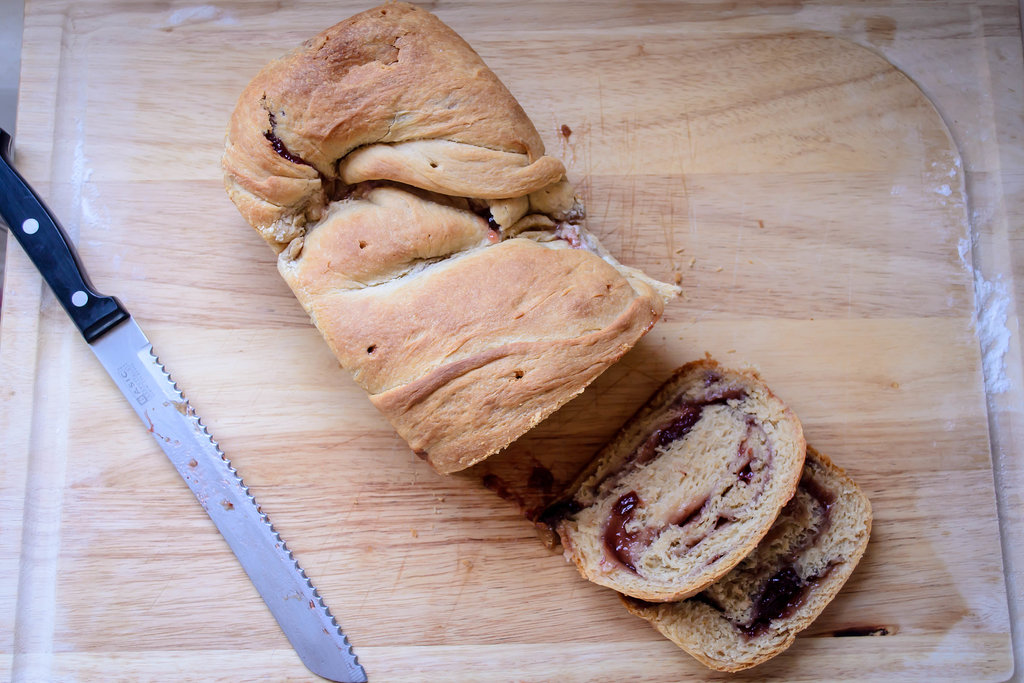 Peanut Butter and Jelly Bread Source: Blackberry Eating