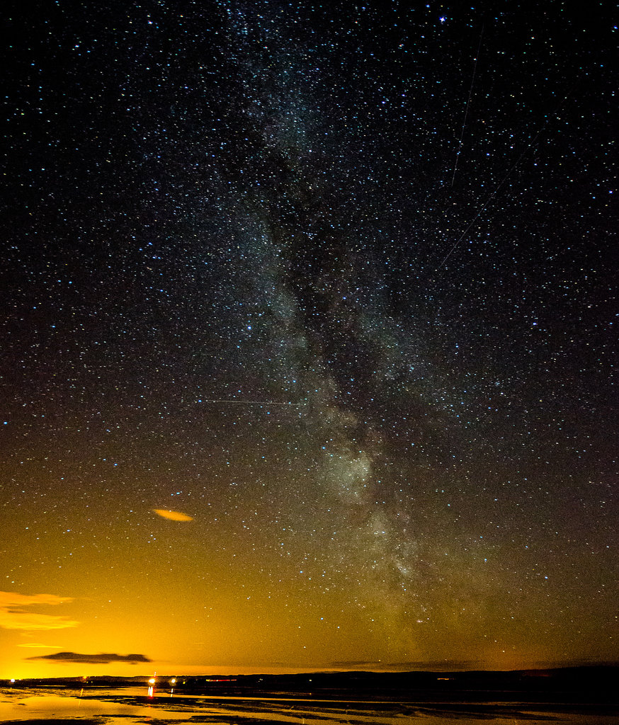The Milky Way came out to play while Flickr user Jonathan Combe hunted for meteors in Holy Island, on the Northeast coast of England. Source: Flickr user Jonathan Combe