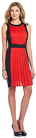 MICHAEL Michael Kors Colorblock Pleated Dress