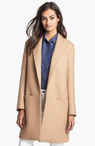 Theory 'Elizabeth' Wool Blend Coat Petite