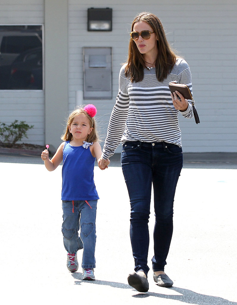 Jennifer Garner and Seraphina walked hand in hand in Santa Monica.