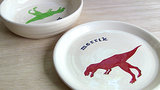 Personalized Ceramic Dinosaur Plate ($35)