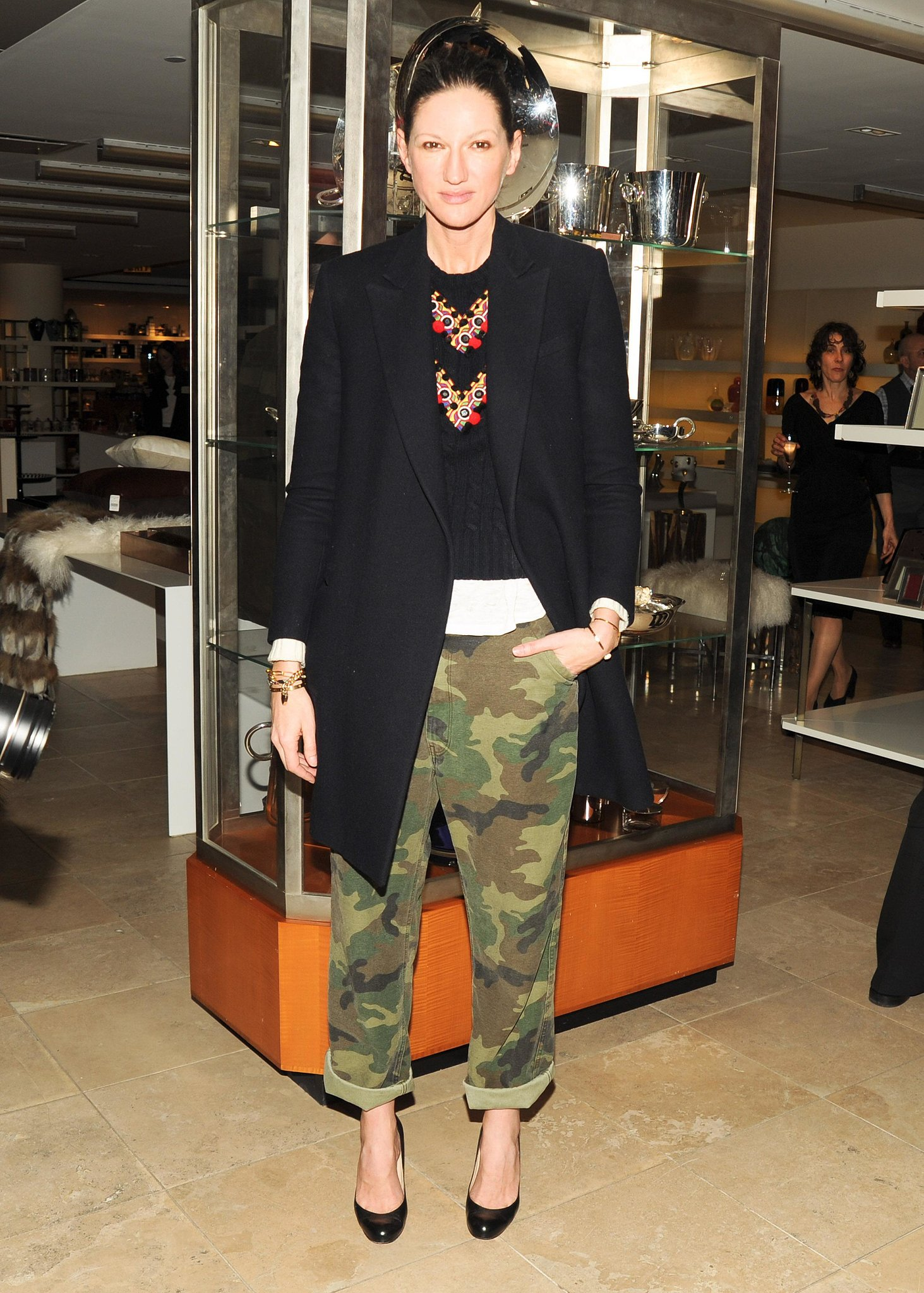 Before most of us even knew we liked camo, she was rocking the print in baggy, rolled pants.