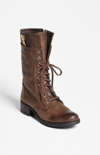 Steve Madden 'Leader' Boot Womens Brown Leather Size 5 M 5 M