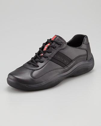 Prada Eagle Basic Leather Sneaker