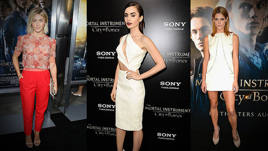 What's More Daring: Lily Collins's Cutouts or Julianne Hough's Sheer Top?
