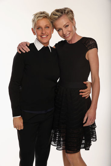 In January 2013, Ellen DeGeneres and Portia de Rossi posed for a sweet portrait at the People's Choice Awards.