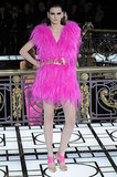 Hot-pink neon fur as only Versace could get away with.
