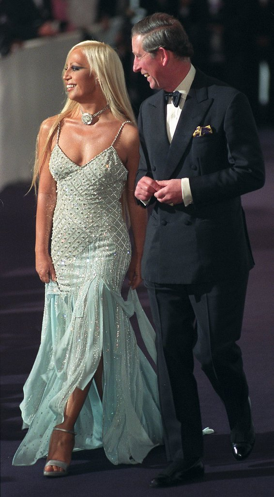 Fashion royalty met British royalty at a fundraising event in 1999.