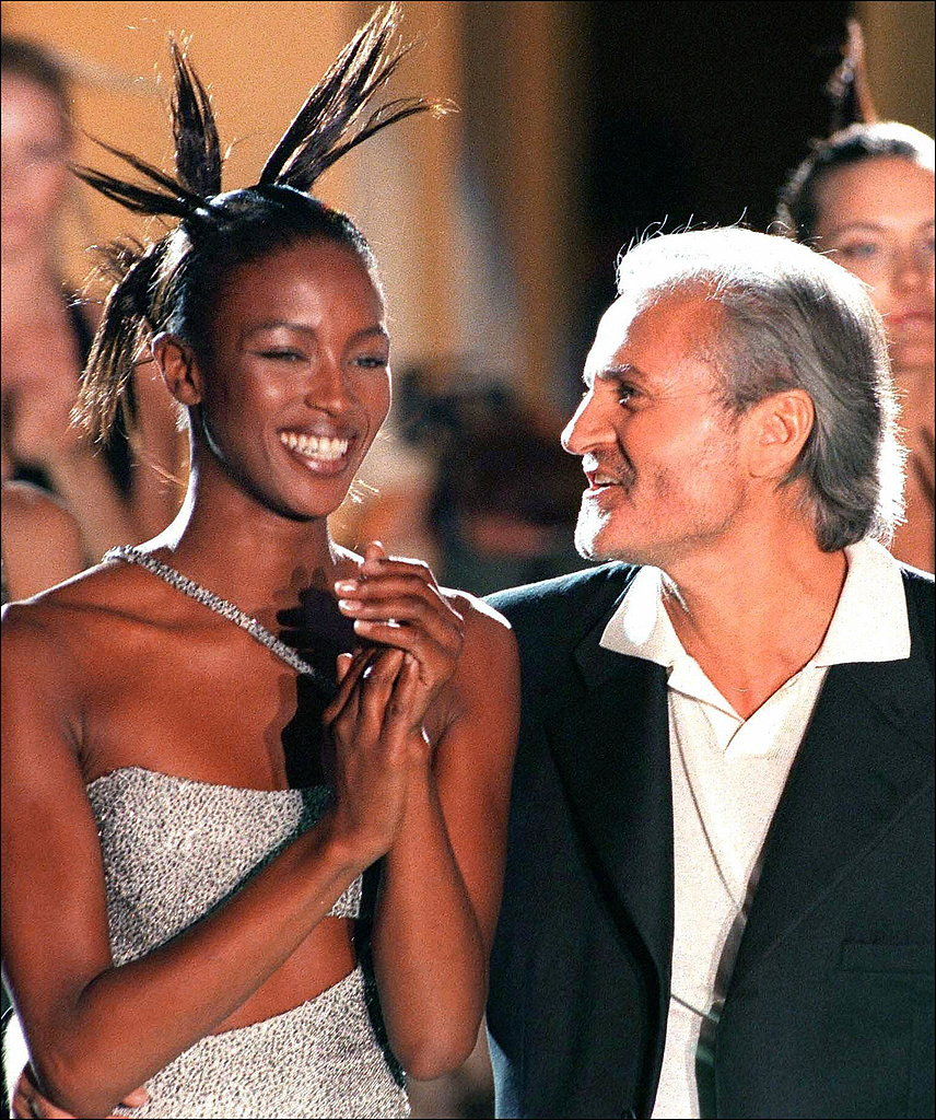 Medusa wasn't just their logo; she was the inspiration for Naomi Campbell's hair at the Fall 1996 show.
