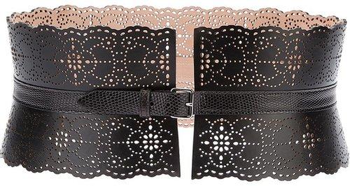 Alaïa scalloped wide belt