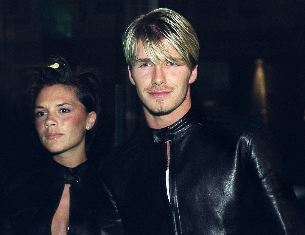 """One Versace moment David Beckham would like us to forget: the time he and Victoria wore the label's matching leather suits to a 1999 party. Of the misstep, he later asked, """"What were we thinking?"""""""