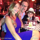 Sofia Vergara shared an on-set snap while shooting Chef with Jon Favreau in Miami. Source: Sofia Vergara on WhoSay