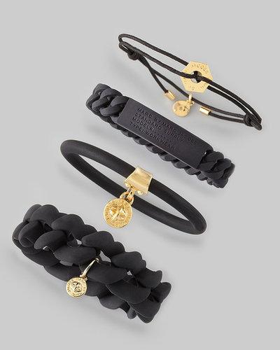 MARC by Marc Jacobs Rubber Turnlock Bracelet, Black