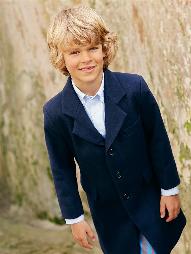 Look 11 — Boys' Classic Coat and Corduroy Pants ($85-$395)