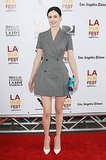 Krysten Ritter pulled out a double-breasted dress for the Los Angeles Film Festival this Summer.