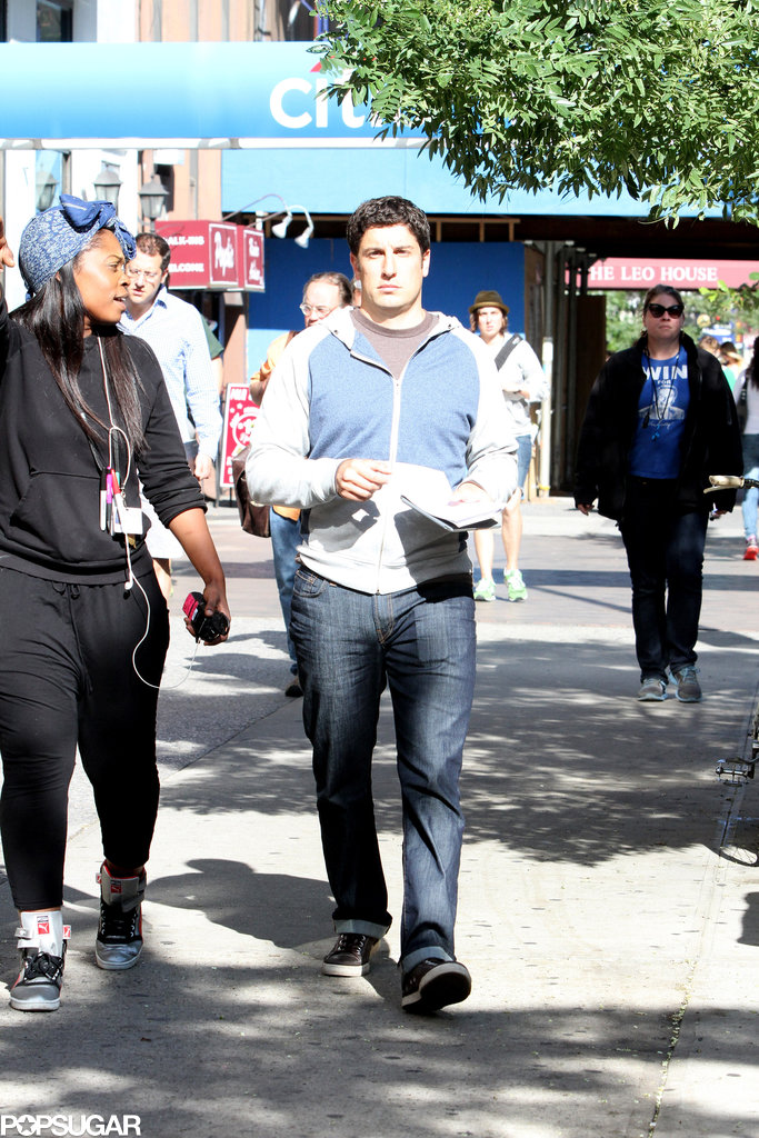 Jason Biggs hit the NYC set of Orange Is The New Black on Wednesday.