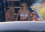 Leonardo DiCaprio and his new girlfriend, Toni Garrn, hung out on a boat in Ibiza in August.