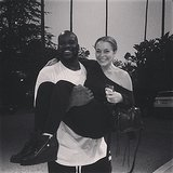 Lindsay Lohan got a lift from Shaquille O'Neal. Source: Instagram user lindsaylohan