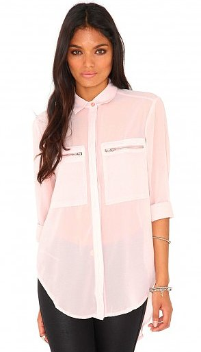 The zippered pockets make this MissGuided Gravila blouse ($33) a little edgier t