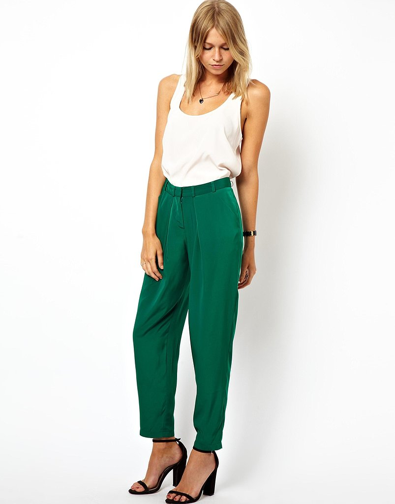 This season, we're all about the slouchy trousers — and this pair of ASOS peg pants ($30-$37) is a
