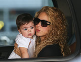 Shakira Balances Baby Milan in Sky-High Heels