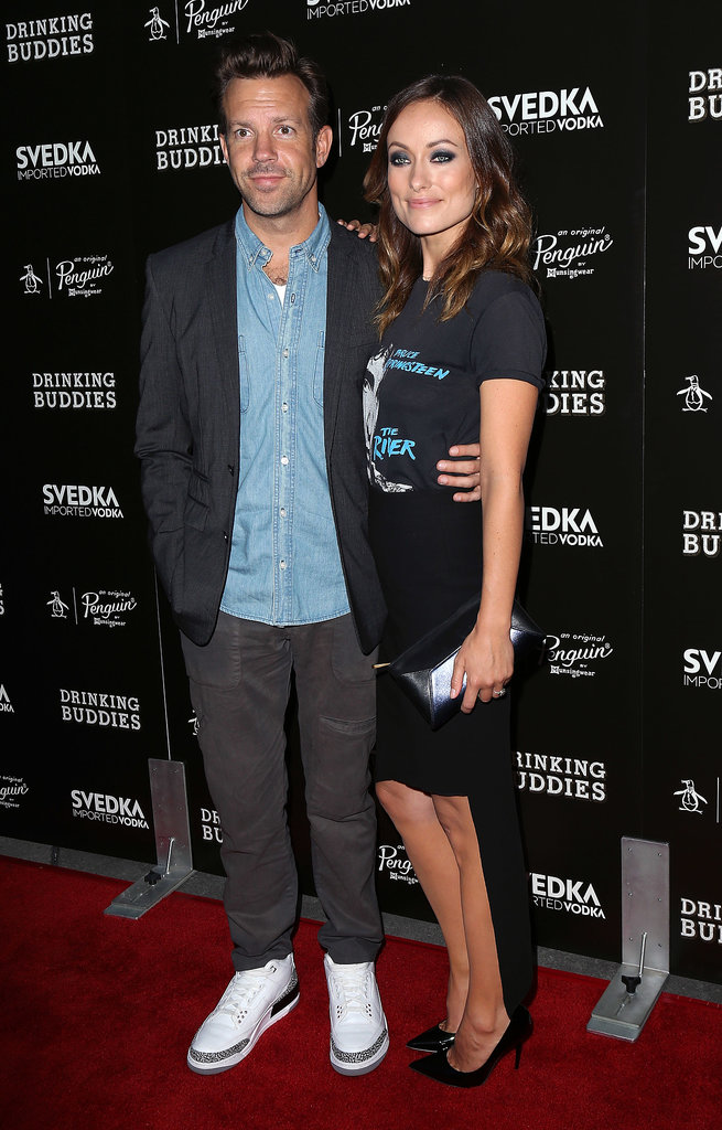 Jason Sudeikis and Olivia Wilde attended the LA screening of Drinking Buddies.