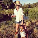 Katherine Heigl soaked up the Summer sun with little Adalaide. Source: Instagram user joshbkelley