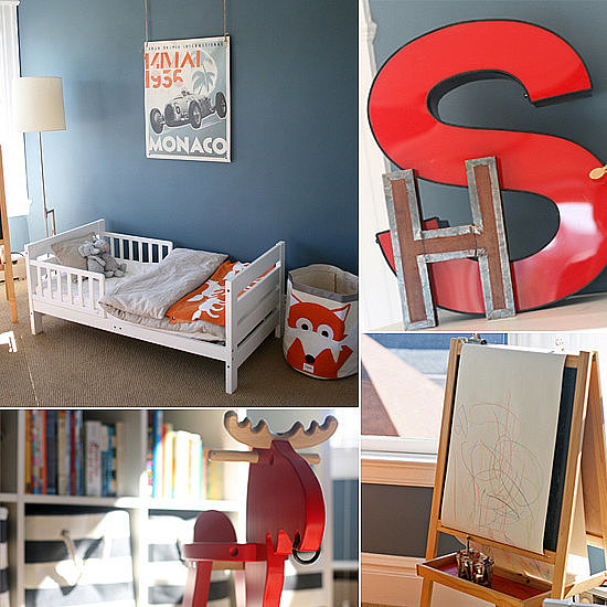 Simply Stylish Little Boy's Room in Orange and Blue