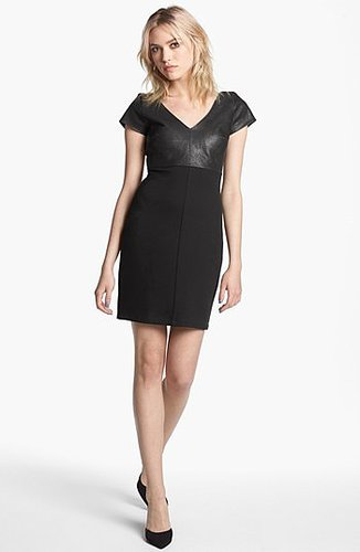 Bailey 44 'Dante' Faux Leather Panel Sheath Dress