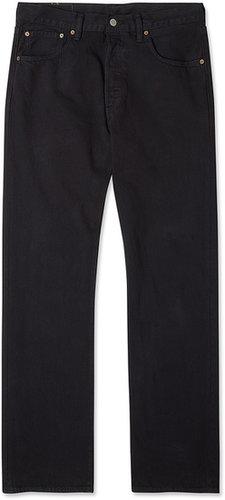 Black 501 Straight Leg Jeans by Levi's