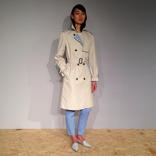 Our favorite part of this 3.1 Phillip Lim for Target trench? The bit of blue lining — so chic.