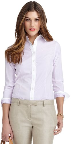 Non-Iron Tailored Striped Dress Shirt