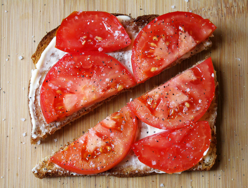 Tomato Mayonnaise Open-Faced Sandwich