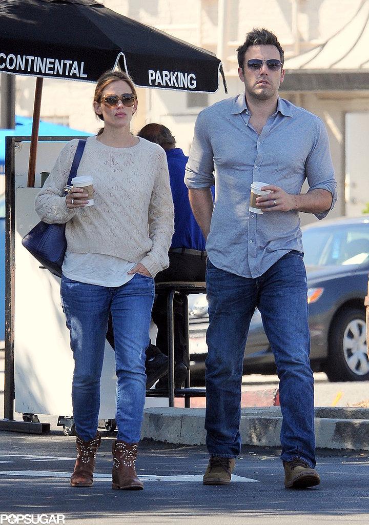 Ben Affleck and Jennifer Garner left an LA restaurant.