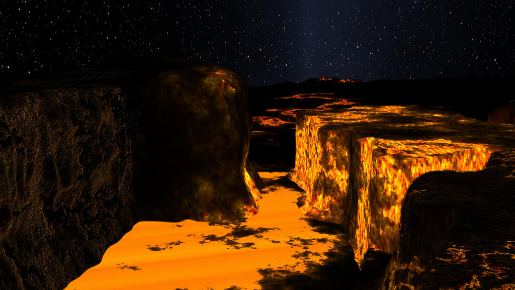 An Imagined Canyon on Planet Kepler-10b