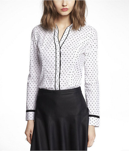 Long Sleeve Clip Dot Essential Shirt