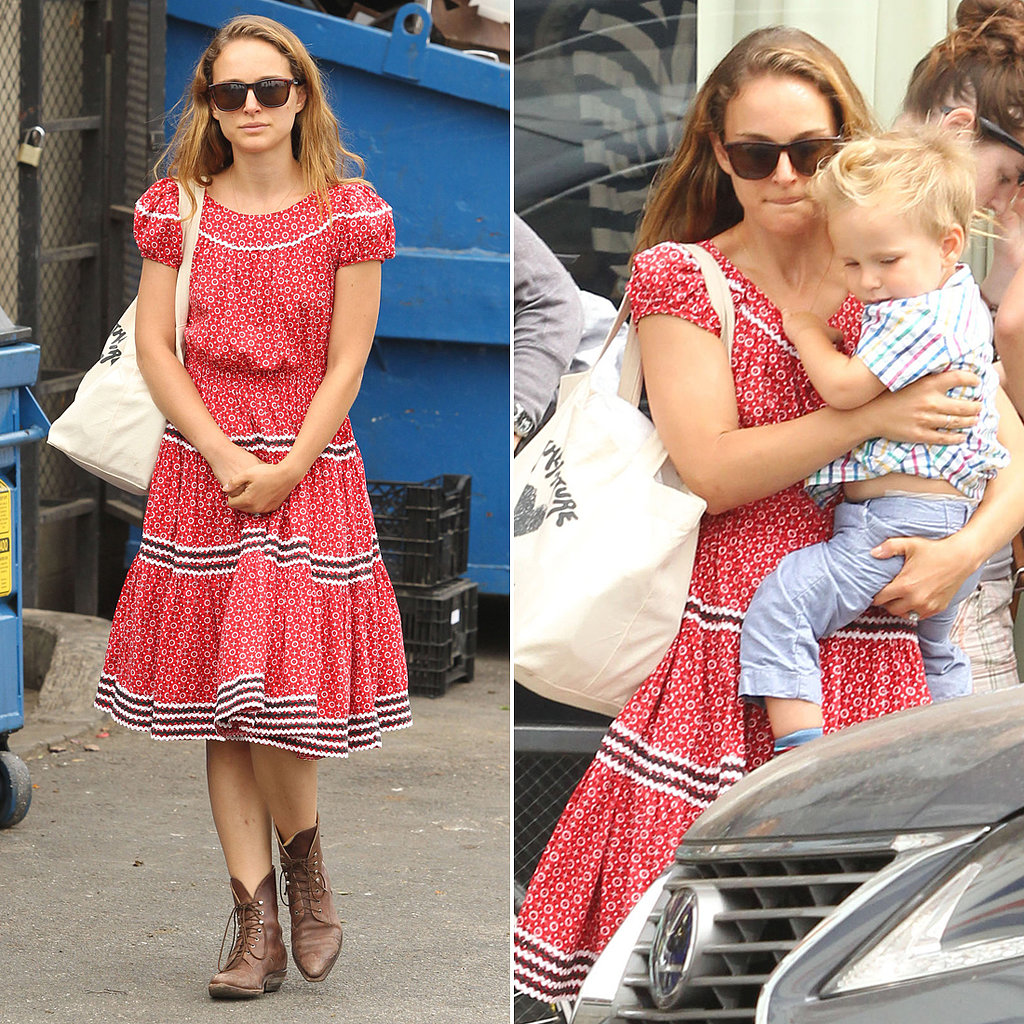 Natalie Portman Gives Aleph a Lift During an LA Lunch Date