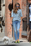 Olivia Palermo in 7 For All Mankind and AG Adriano Goldschmied