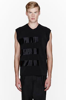 LANVIN Black multi-paneled shirt