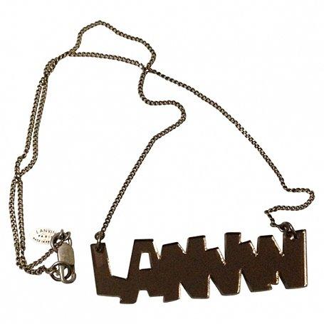 LANVIN Mirror Logo Necklace