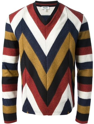Kenzo striped v-neck sweater
