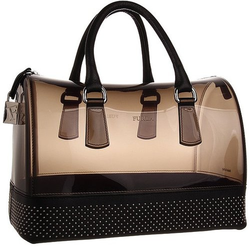 Furla - Candy Bag with Studs (Grigio Fume/Onyx) - Bags and Luggage