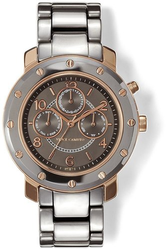 Vince Camuto Ceramic Sub-Dial Watch