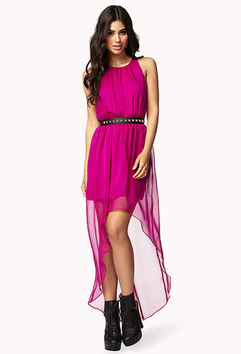 FOREVER 21 Shirred High-Low Dress