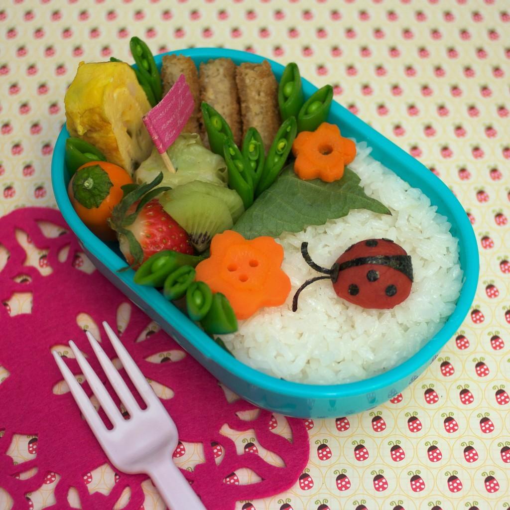 Ladybug and Garden Bento