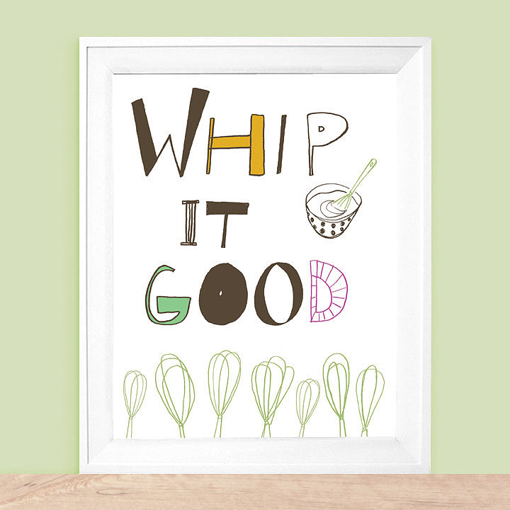 Colder weather calls for baking (and more baking). What better way to celebrate than with a playful print ($20)?