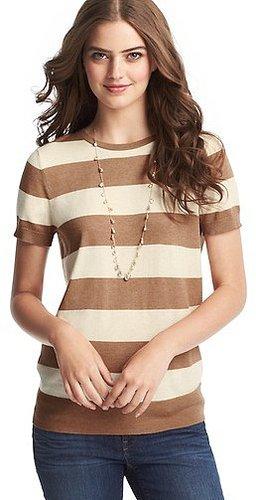 Wide Stripe Sweater Tee