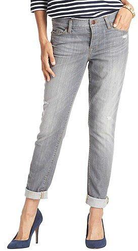 Boyfriend Jeans in Carbon Grey Wash