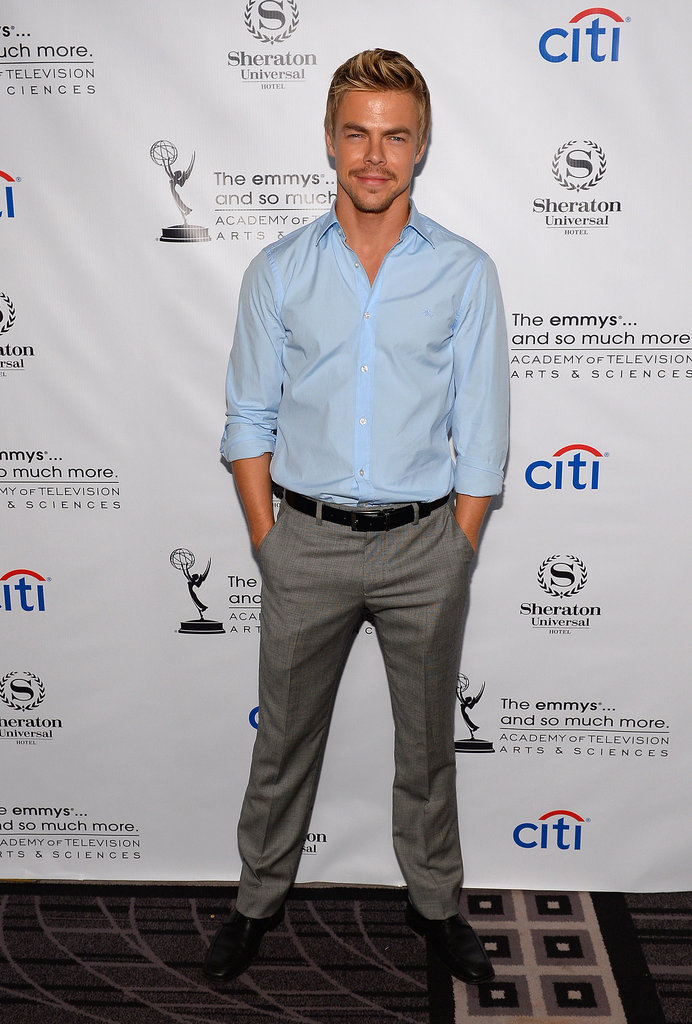 Derek Hough attended the Emmys cocktail bash.